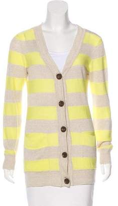 Milly Linen Striped Cardigan