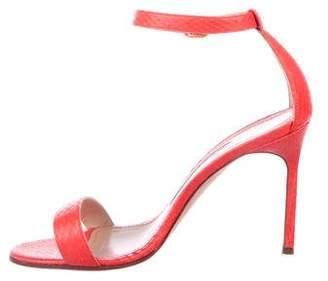 Manolo Blahnik Embossed Leather Sandals