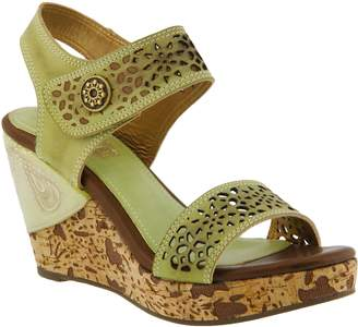 Spring Step L'Artiste Leather Wedge Sandals - Allura