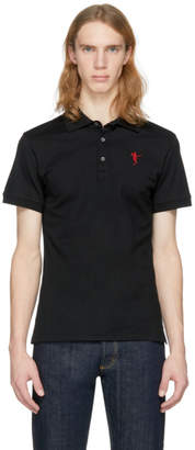 Alexander McQueen Black Dancing Skeleton Polo