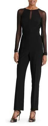 Lauren Ralph Lauren Mesh-Detail Jumpsuit $169 thestylecure.com