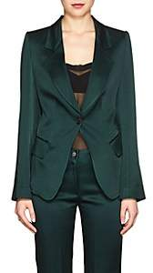 Boon The Shop Women's Washed Satin One-Button Blazer - Green