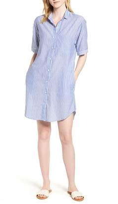 Velvet by Graham & Spencer Pinstripe Cotton Shirtdress