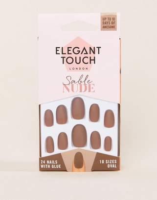 Elegant Touch Nude Collection False Nails - Sable Matte