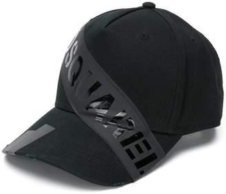 DSQUARED2 logo stripe cap