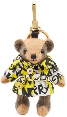 Burberry Thomas bear graffiti cashmere keyring