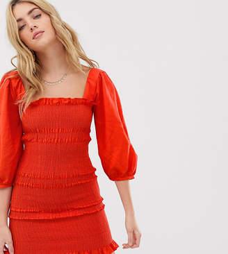 Capulet Siobhan ruched ginhgam mini dress