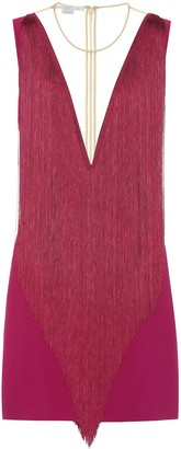 Stella McCartney Fringe crepe minidress