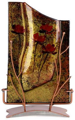 "Jasmine Art Glass 14"" x 8"" Rectangle Vase"
