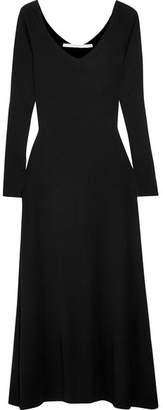 Rosetta Getty Cotton-jersey Midi Dress - Black