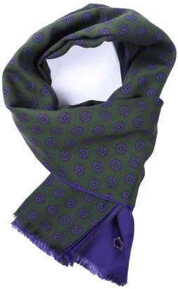 Serà Fine Silk - Green Purple Wool and Silk Scarf