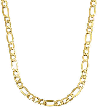 FINE JEWELRY Made in Italy 14K Yellow Gold 24 Hollow Figaro Chain