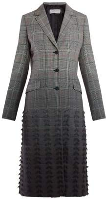 Gabriela Hearst Ramirez Single Breasted Degrade Check Coat - Womens - Grey Multi