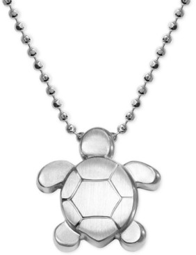 Alex Woo Turtle Pendant Necklace in Sterling Silver