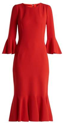 Dolce & Gabbana Fluted Cady Dress - Womens - Red