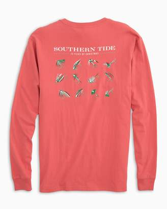 Southern Tide Twelve Flies of Christmas Long Sleeve T-Shirt