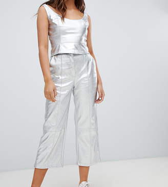 Bershka metallic pants
