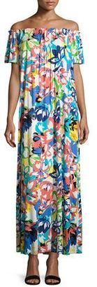 Rachel Pally Ossi Printed Off-the-Shoulder Maxi Dress, Plus Size $282 thestylecure.com