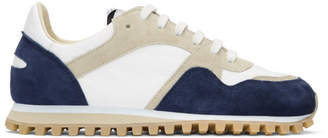 Spalwart Navy Suede Marathon Trail Low Sneakers