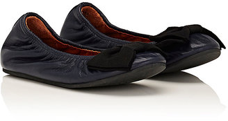 Lanvin LANVIN LEATHER BALLERINA FLATS-NAVY SIZE 2.5/ 3 $405 thestylecure.com