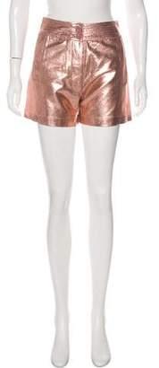 Antik Batik Metallic High-Rise Shorts w/ Tags
