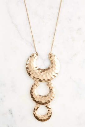 South Moon Under Hammered 3 Tier Horseshoe Pendant