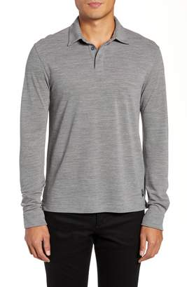 Ermenegildo Zegna Trim Fit Wool Long Sleeve Polo Shirt