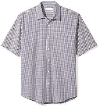 Amazon Essentials Men's Regular-Fit Short-Sleeve Gingham Shirt
