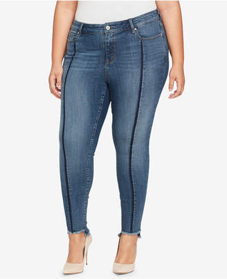 William Rast Plus Size Seamed Step-Hem Skinny Jeans