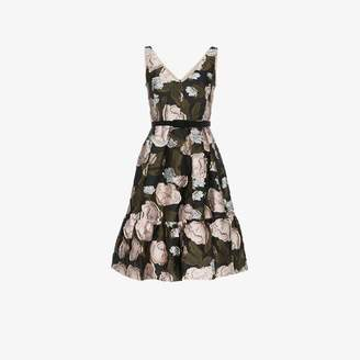 Erdem sleeveless floral jacquard A-line silk blend mini dress