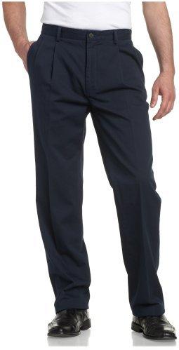 Nautica Men's True Khaki Pleated Front No Cuff Pant
