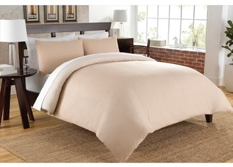 Color Sense Premium Ultra Soft Chambray Twin Taupe Duvet Cover Set