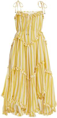 Zimmermann Lumino Floating striped linen dress