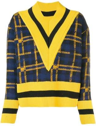 Henrik Vibskov checked pattern sweater