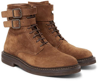 Brunello Cucinelli Suede Boots - Men - Brown