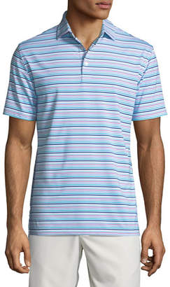 Peter Millar Men's Morgan Striped Jersey Polo Shirt