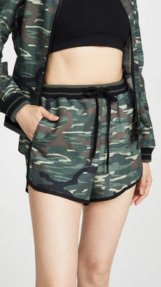 The Upside Army Camo Linen Shorts