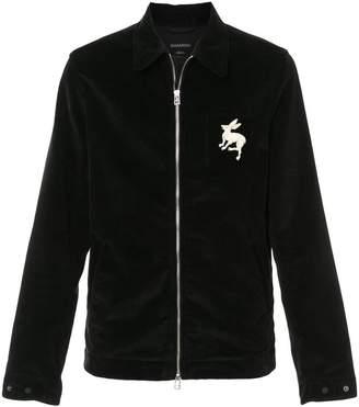 MHI cord zipped jacket