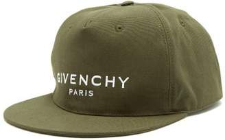 Givenchy Logo Cotton Baseball Cap - Mens - Khaki