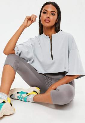Missguided Grey Cropped Leggings