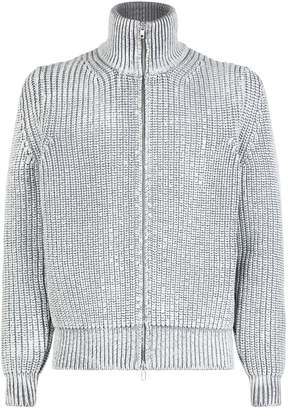 Maison Margiela Painted Zip Up Cardigan
