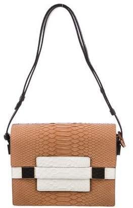 Delvaux Madame PM Python Shoulder Bag
