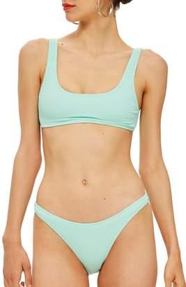 Topshop Textured Bikini Bottoms