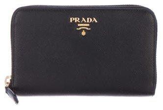 pradaPrada Saffiano Lux Zip Wallet