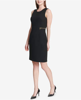 Calvin Klein Zippered Sheath Dress