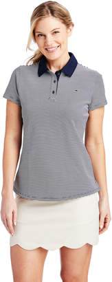 Vineyard Vines Short-Sleeve Striped Pique Polo