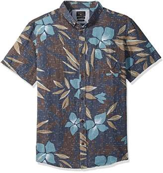 Quiksilver Men's Short Sleeve Linen Print Shirt