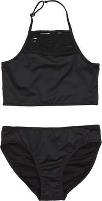 b86f2dc619 Tucker + Tate Halter Macrame Two-Piece Swimsuit