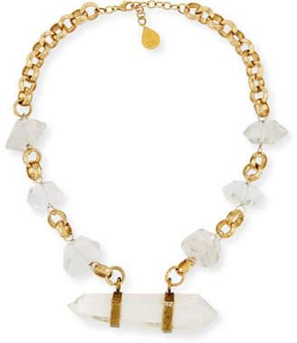 Devon Leigh Clear Quartz Spike Necklace