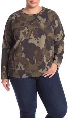 Joe Fresh Camo Print Sweater (Plus Size)